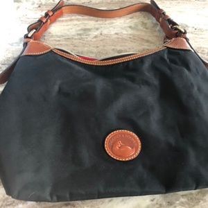 Dooney and Bourke Canvas and Leather Hobo Bag